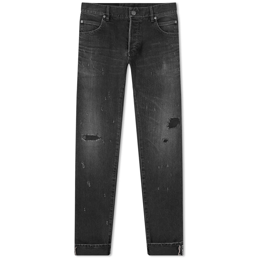 Photo: Balmain Selvedge Repaired Slim Jean
