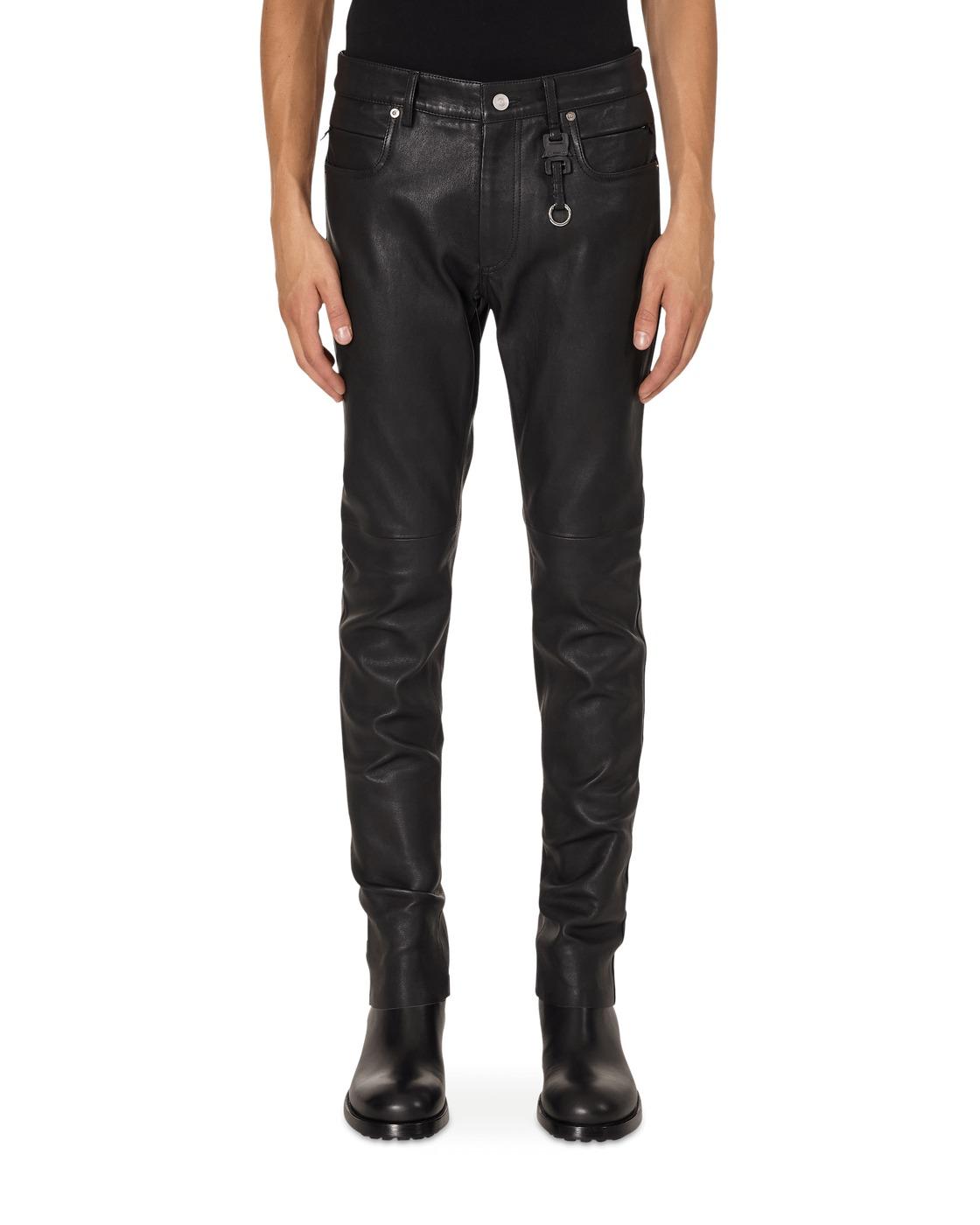 1017 Alyx 9sm Leather 6 Pocket Pants Black