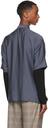 Giorgio Armani Navy Half-Zip Sport Short Sleeve Shirt