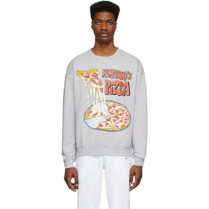 Photo: Moschino Grey Moschinos Pizza Sweatshirt