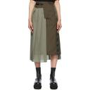 Sacai Khaki Pleated Suiting Skirt