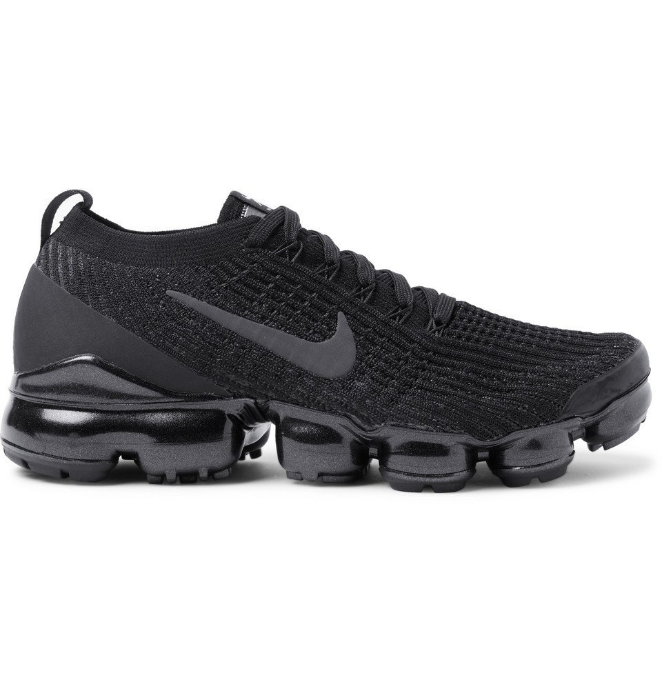Photo: Nike Running - Air VaporMax Flyknit 3 Sneakers - Black