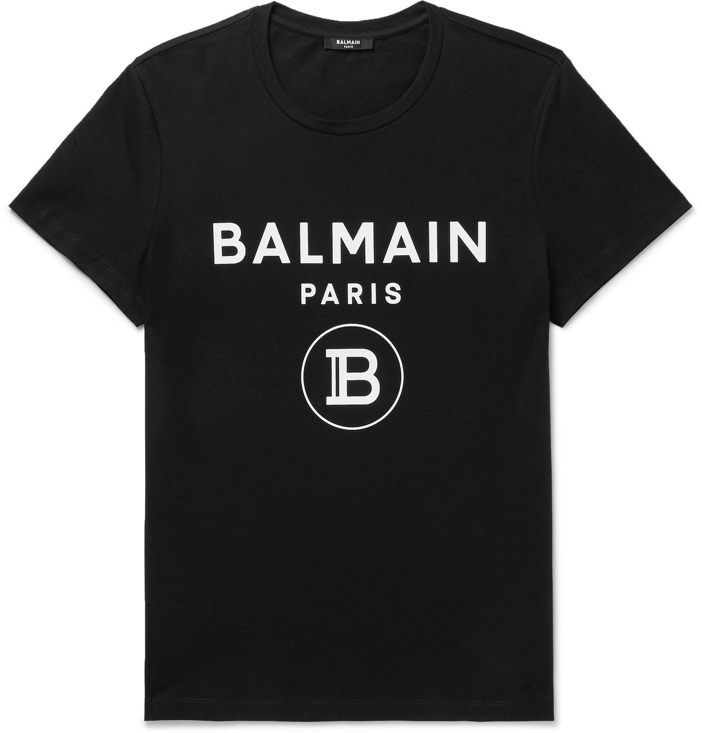 Photo: Balmain - Logo-Print Cotton-Jersey T-Shirt - Black