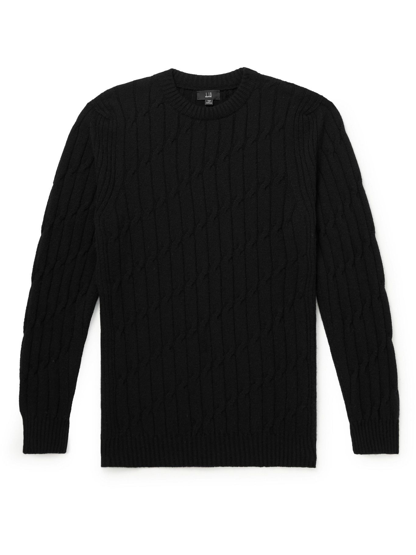 Dunhill - Cable-Knit Cashmere Sweater - Black