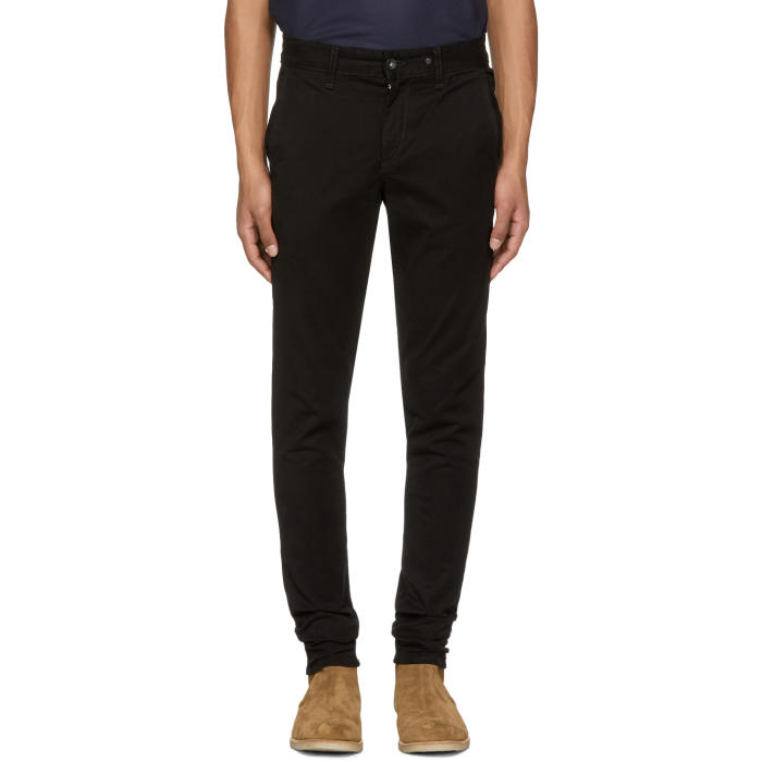 Photo: Rag and Bone Black Standard Issue Fit 1 Chinos