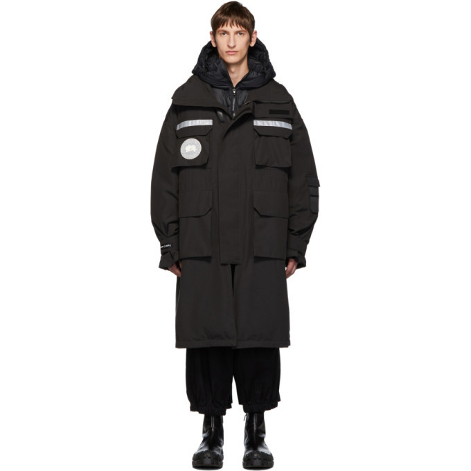 Photo: Juun.J Black Canada Goose Edition Down 3-In-1 Resolute Parka
