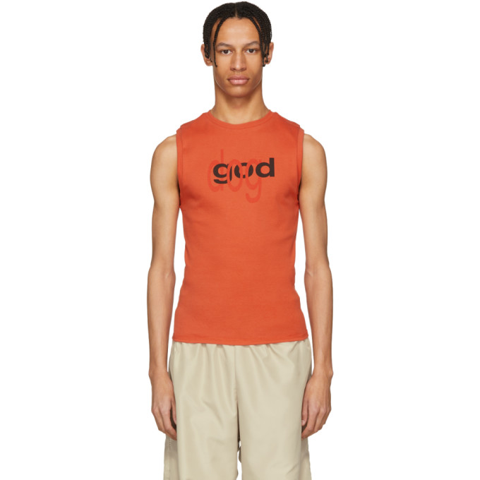 Photo: Eckhaus Latta Red Good Dog Muscle Tank Top