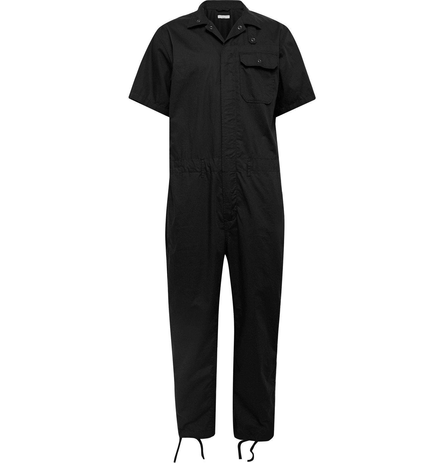 Photo: Engineered Garments - Patchwork Cotton Jumpsuit - Black