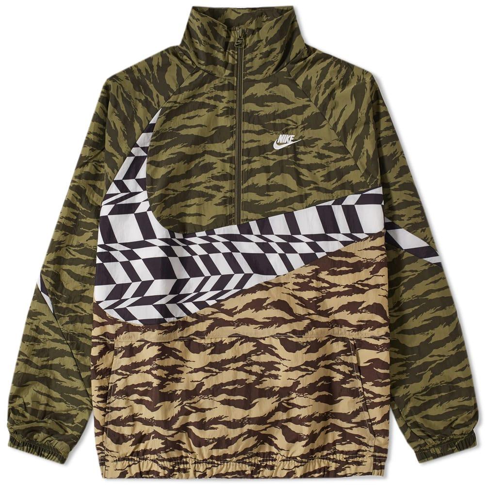 Photo: Nike AOP Swoosh Half Zip Woven Jacket
