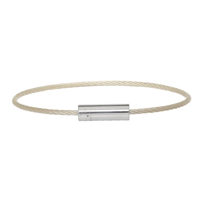 Photo: Le Gramme Silver Slick Le 7 Grammes Cable Bracelet