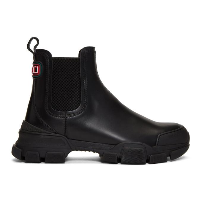 Photo: Gucci Black Leon Chelsea Boots
