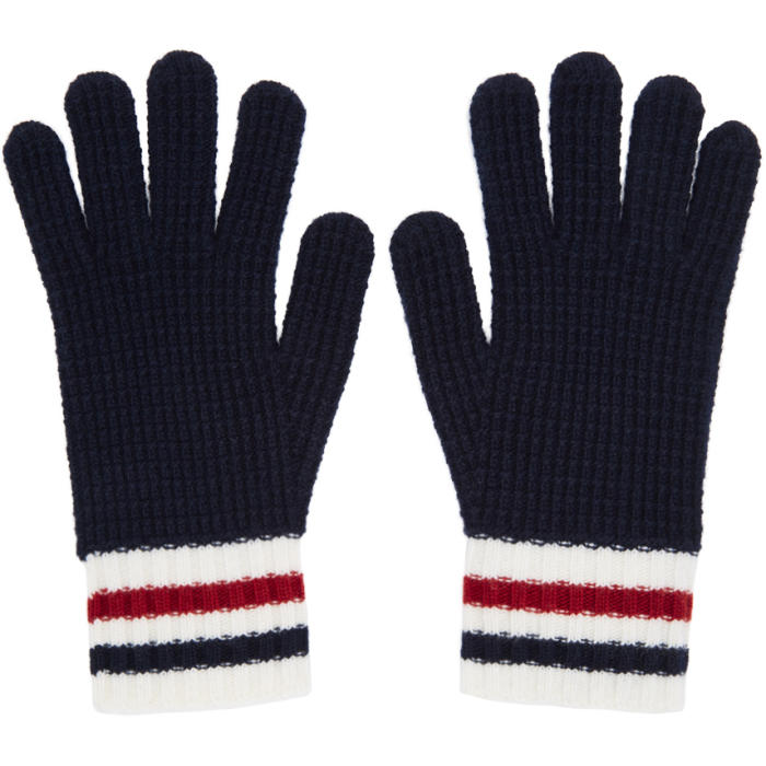 Photo: Moncler Gamme Bleu Navy Wool Gloves