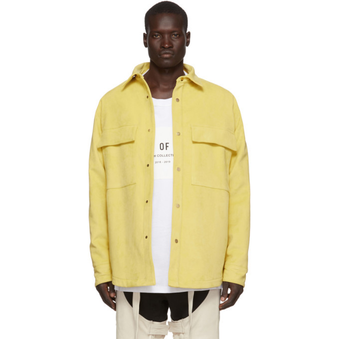 Photo: Fear of God Yellow Ultrasuede Shirt