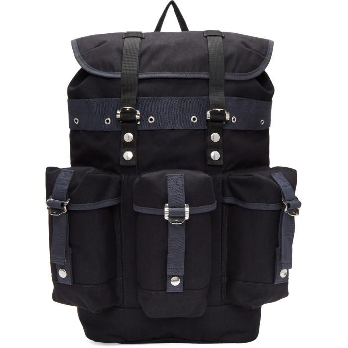 Sacai Navy Buckled Backpack