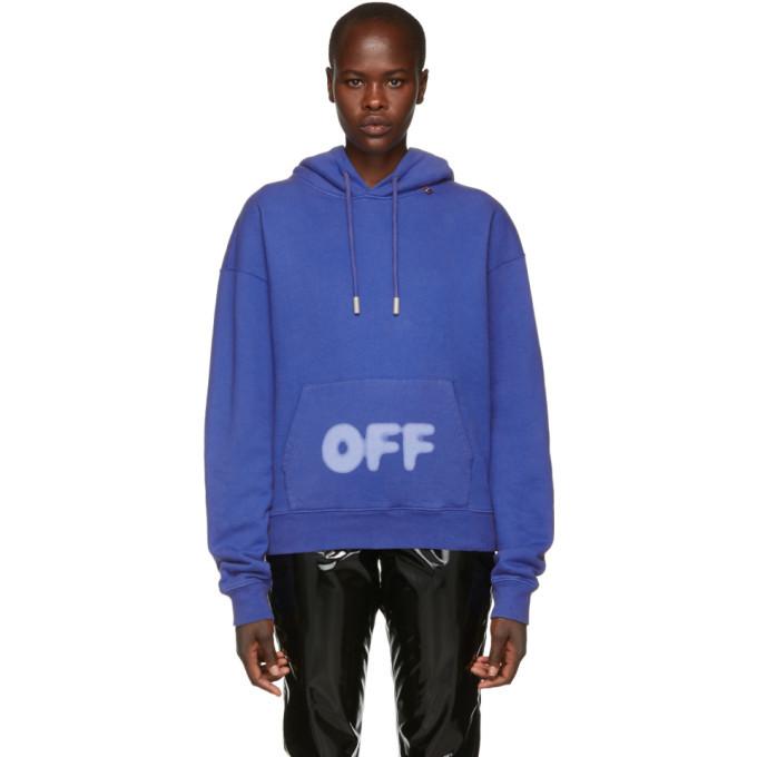 Photo: Off-White Blue Blurred Logo Hoodie