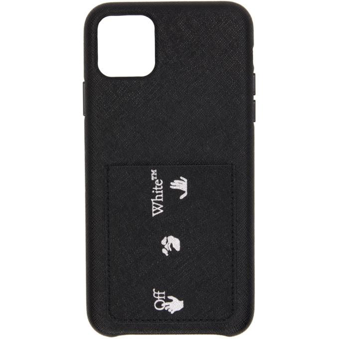 Photo: Off-White Black Saffiano Logo iPhone 11 Pro Max Case