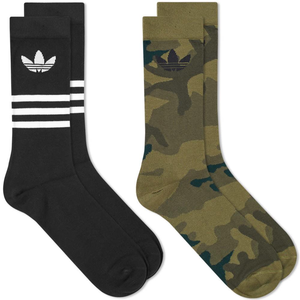 Photo: Adidas Crew Sock - 2 Pack