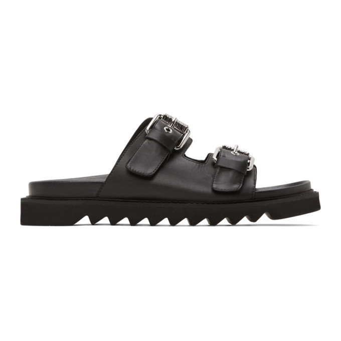 Photo: Moschino Black Slide Sandals