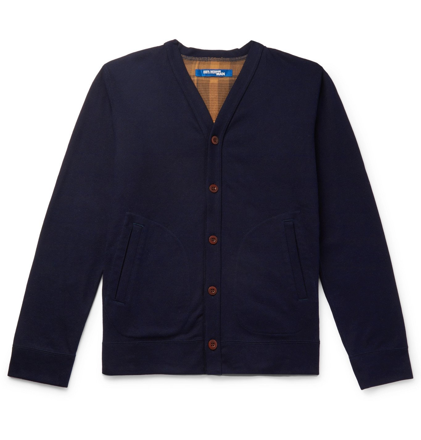 Photo: Junya Watanabe - Quilted Padded Nylon-Panelled Cotton and Wool-Blend Cardigan - Blue