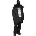Raf Simons Black Templa Edition Oversized Wadded Ski Coat