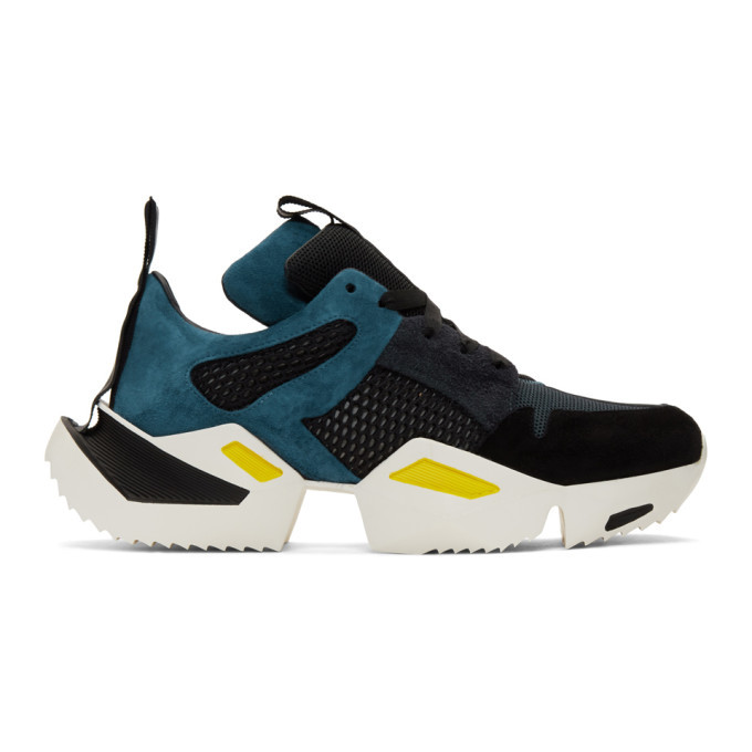 Photo: Unravel Blue and Black Low Sneakers