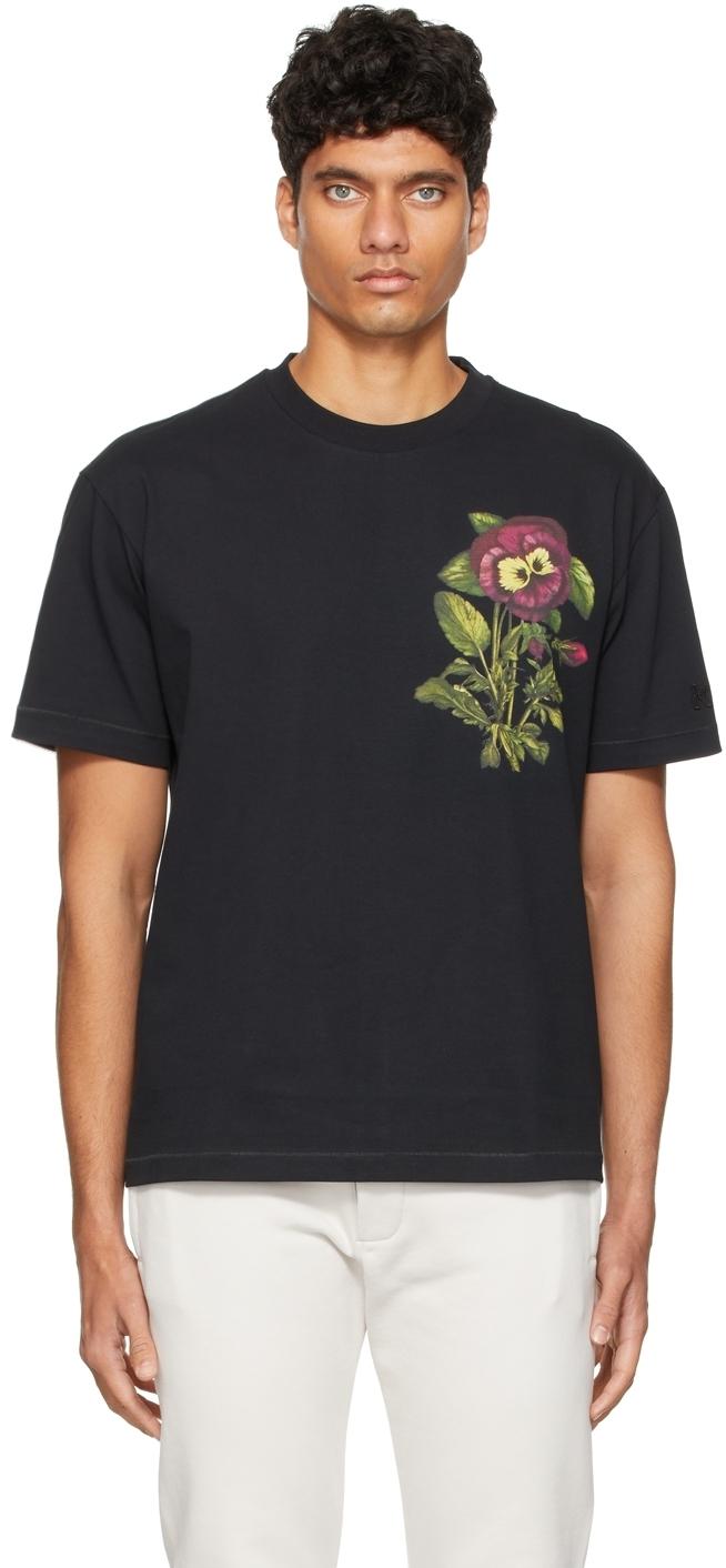 Photo: Kenzo Black Casual Pansy T-Shirt