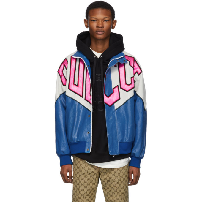 Photo: Gucci Blue Banana Bomber Jacket