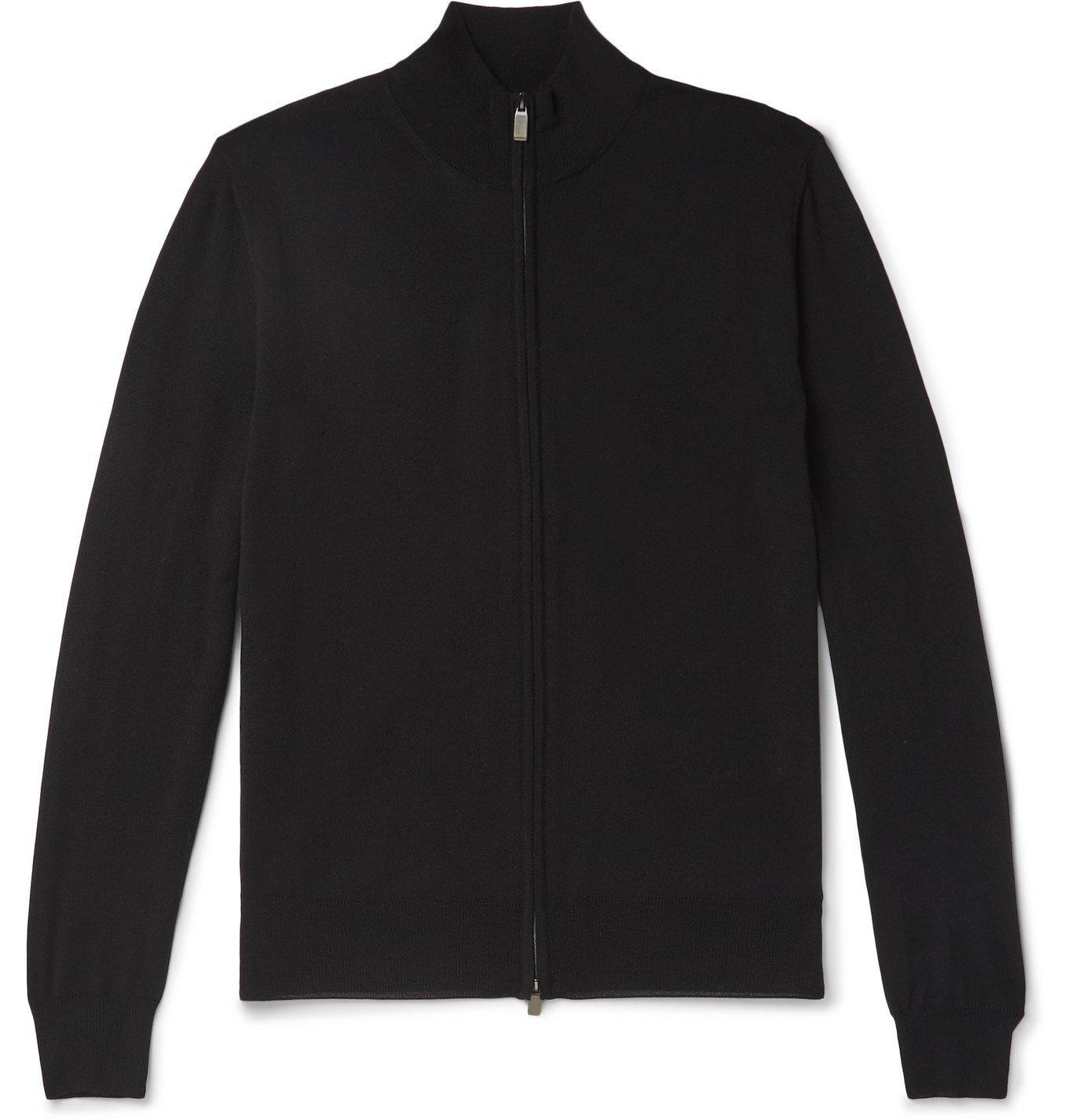 Photo: Canali - Slim-Fit Merino Wool Zip-Up Sweater - Unknown