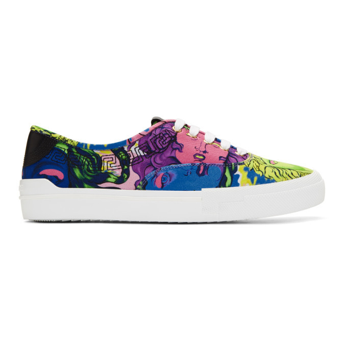 Photo: Versace Multicolor Medusa Sneakers