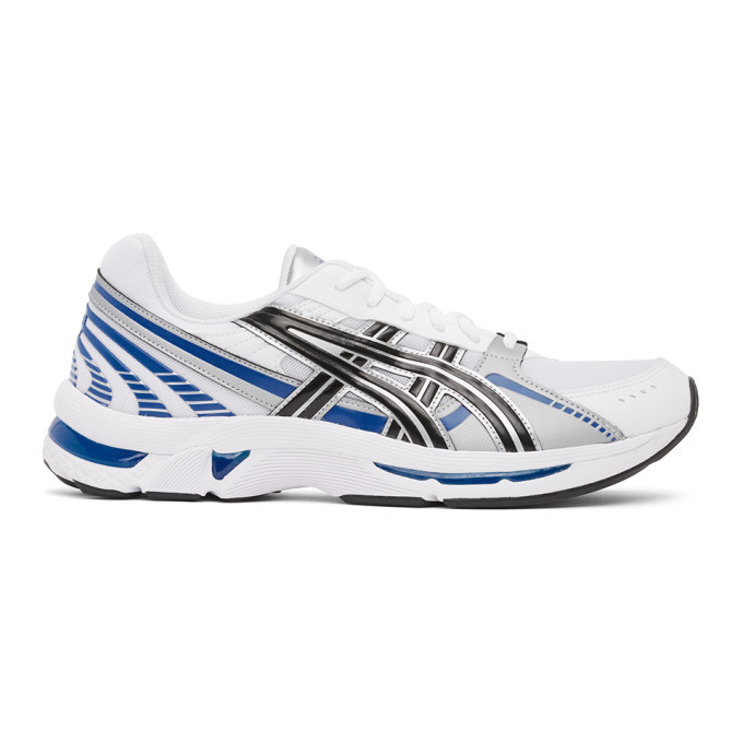 Asics White and Silver Gel-Kyrios Sneakers