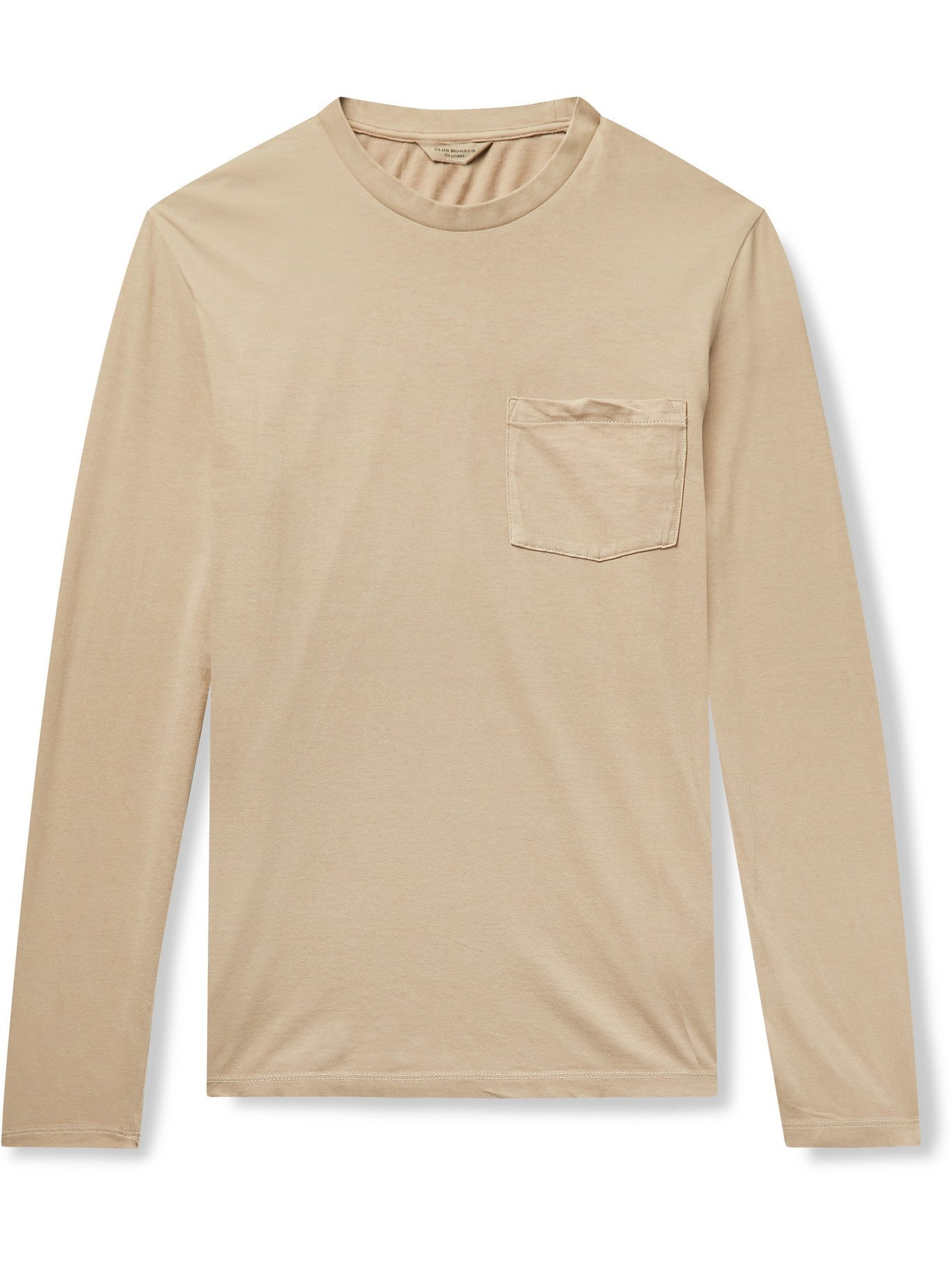 Photo: CLUB MONACO - Williams Cotton-Jersey T-Shirt - Neutrals - XS