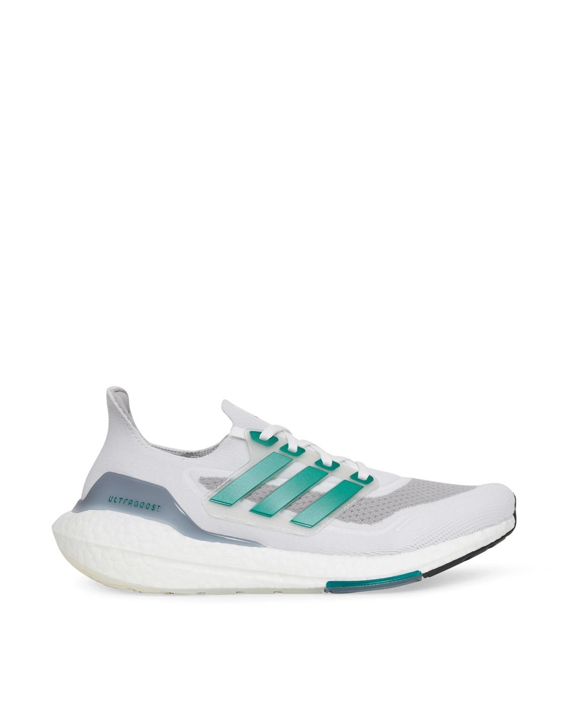Photo: Adidas Originals Ultraboost 21 Sneakers Ftwr White/Sub Green 41