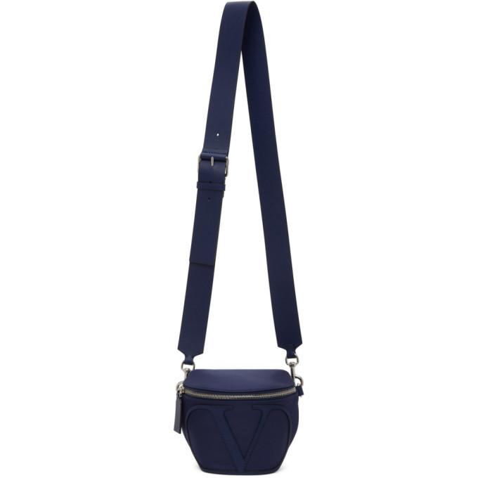 Photo: Valentino Navy Valentino Garavani VLogo Belt Bag