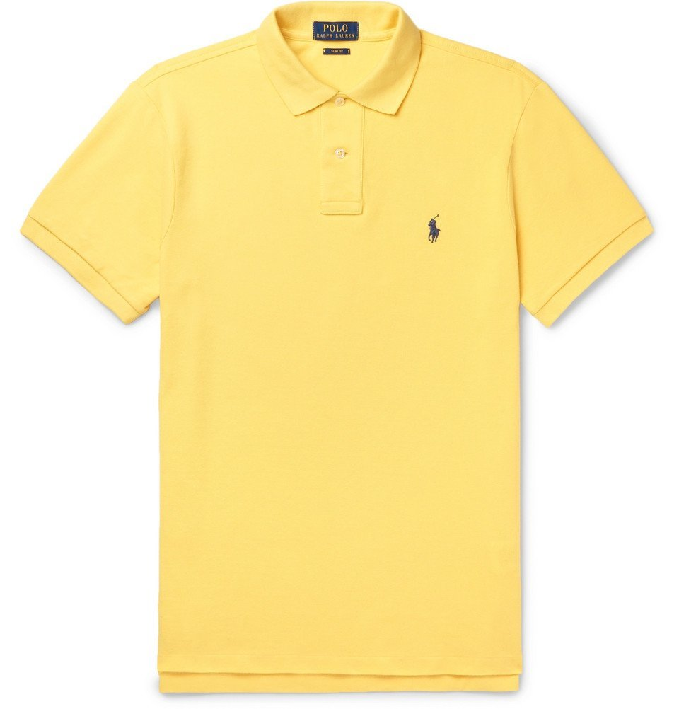 Polo Ralph Lauren Slim Fit Cotton Piqu Polo Shirt Men Yellow