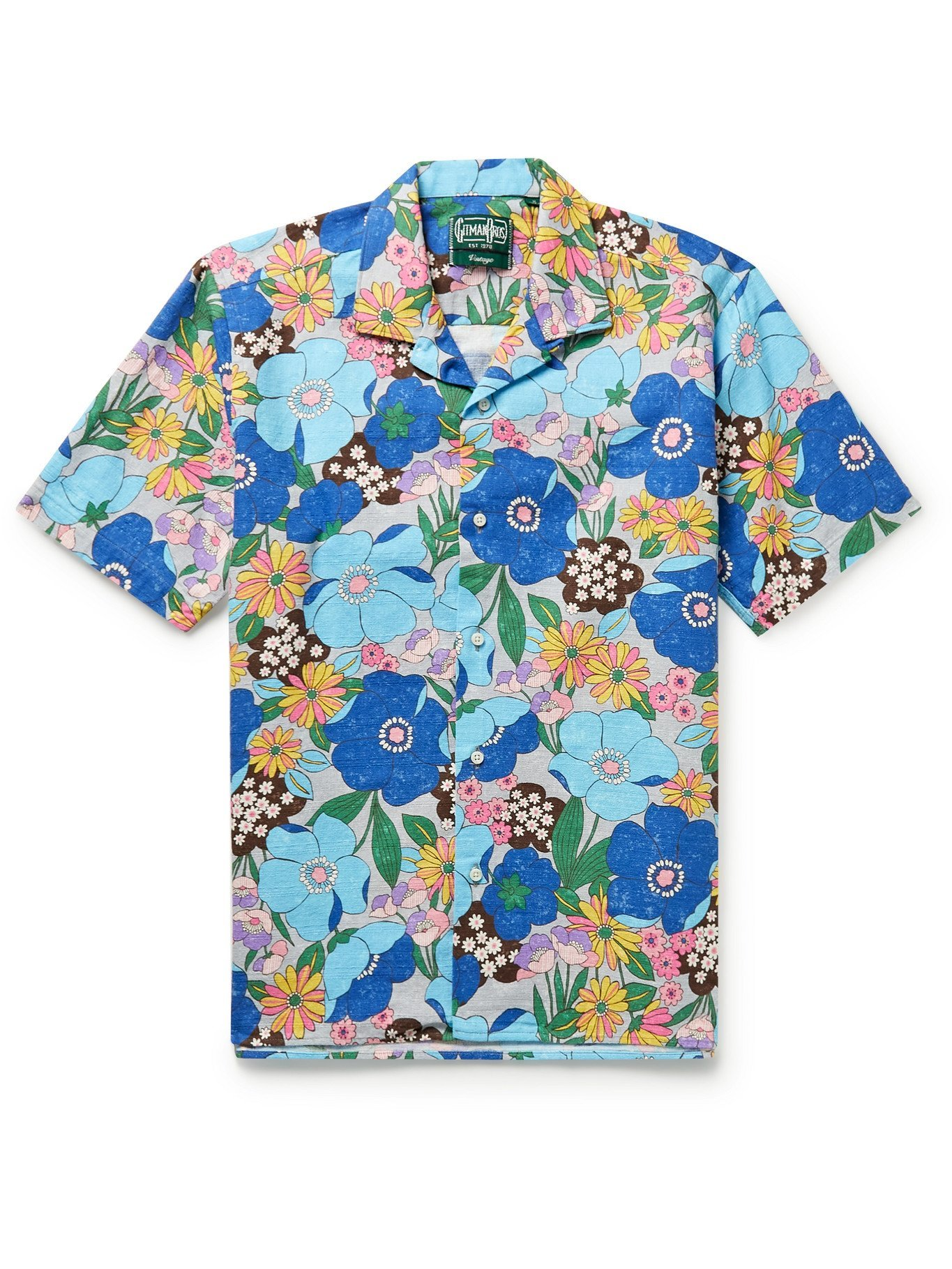 Photo: GITMAN VINTAGE - Camp-Collar Printed Cotton Shirt - Multi