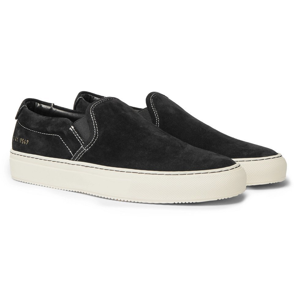 Common Projects - Suede Slip-On Sneakers - Men - Black