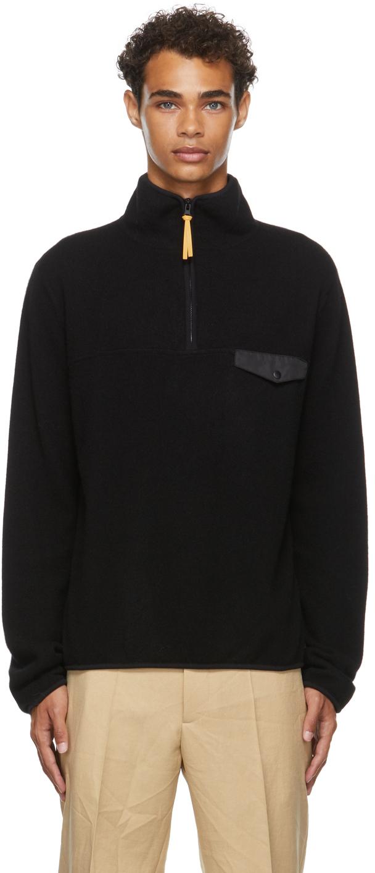 Photo: Jil Sander SSENSE Exclusive Black Cashmere Zip-Up
