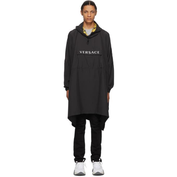 Photo: Versace Underwear Black Pullover Rain Coat