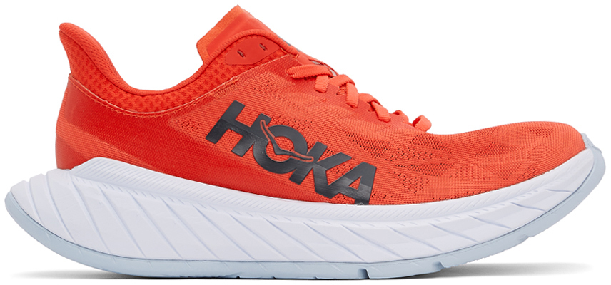 Photo: Hoka One One Red Carbon X2 Sneakers