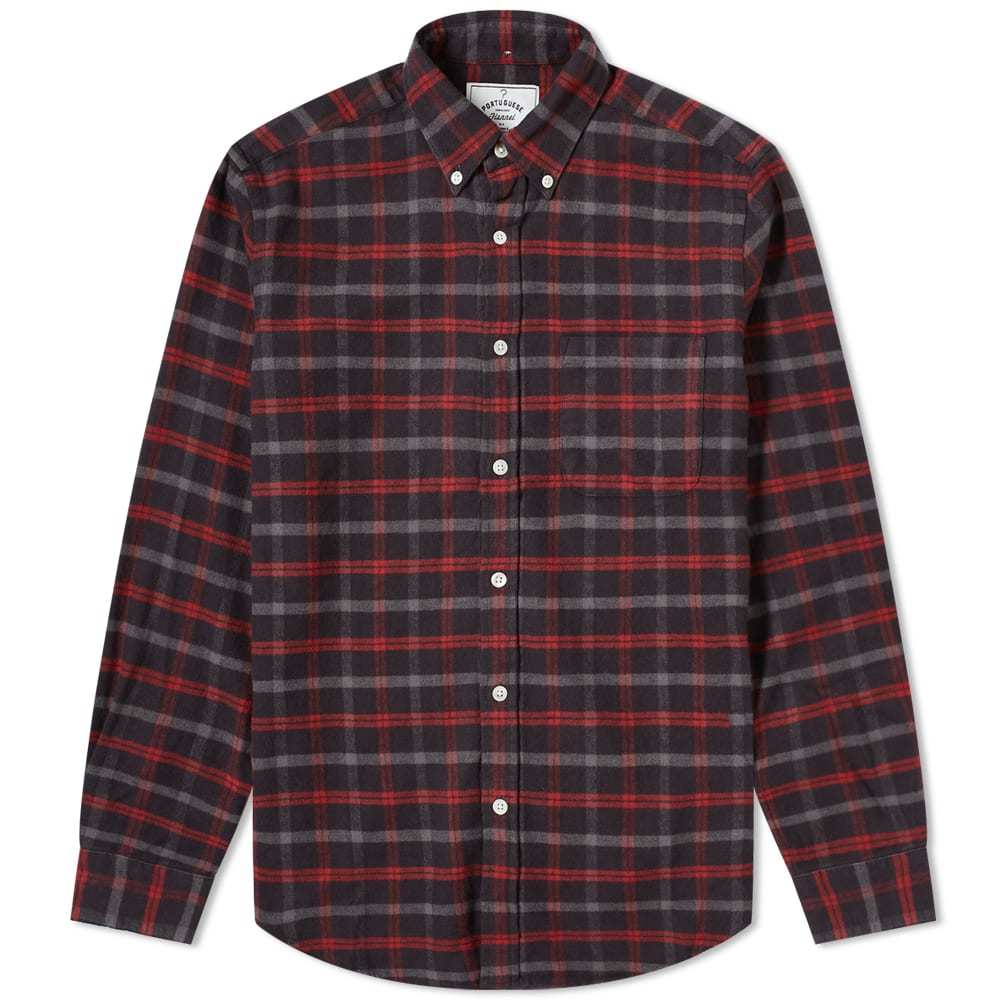Photo: Portuguese Flannel Button Down Evening Check Shirt