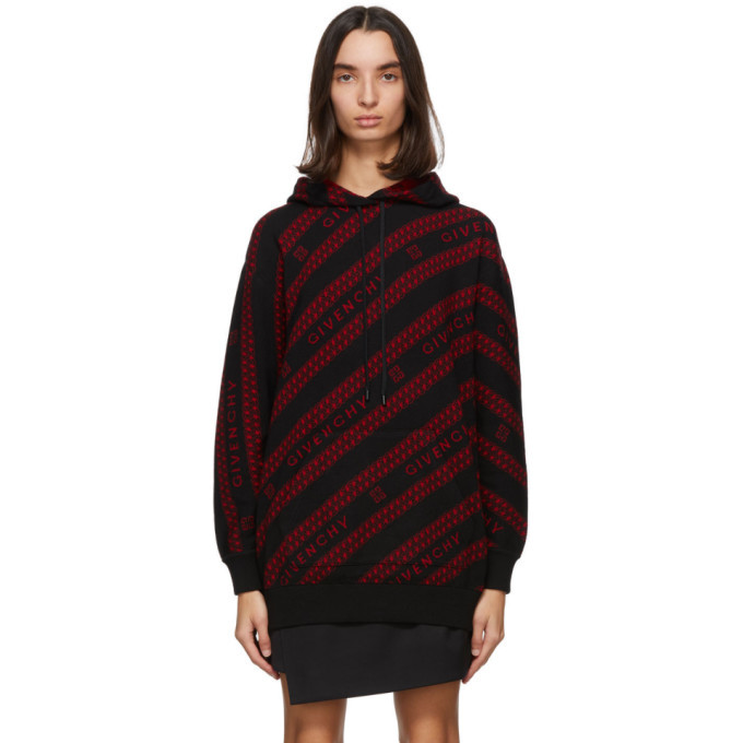 Photo: Givenchy Black and Red Chain Hoodie