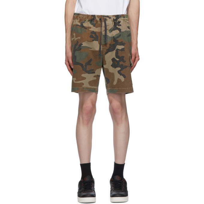 Photo: John Elliott Green Utility Cargo Shorts