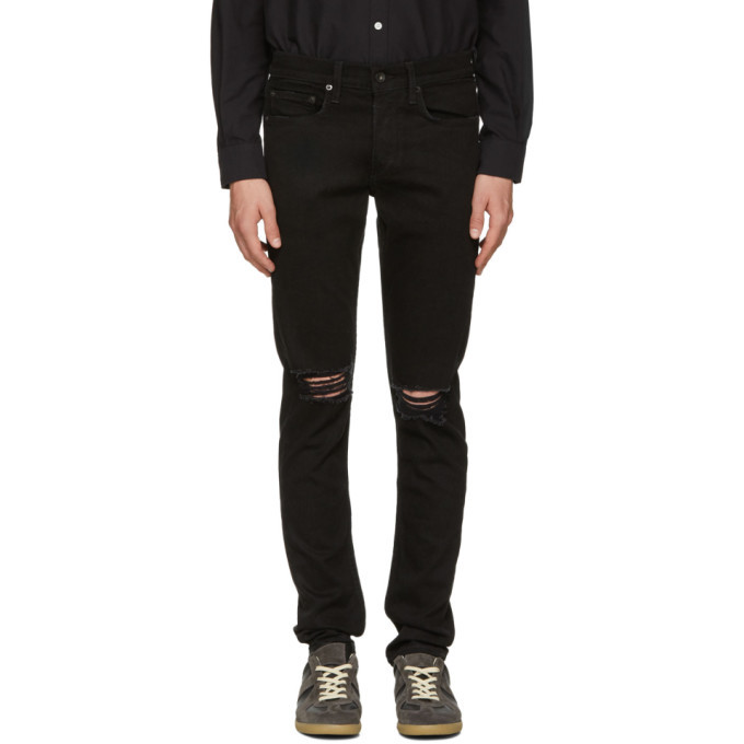 Photo: rag and bone Black Standard Issue Fit 1 Jeans