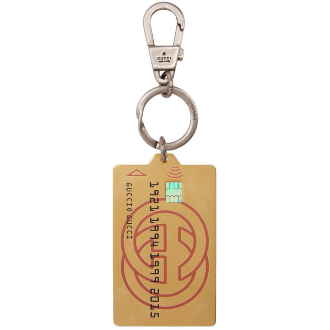 dcaf068f97e5d Gucci Silver and Gold Credit Card Keychain Gucci