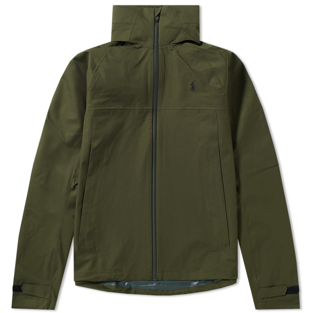 Lauren Ralph Sealed Green Windbreaker Jacket Seam Polo vfY7y6bg