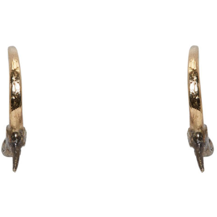 Photo: Pearls Before Swine Gold and Silver Small Thorn Hoop Earrings