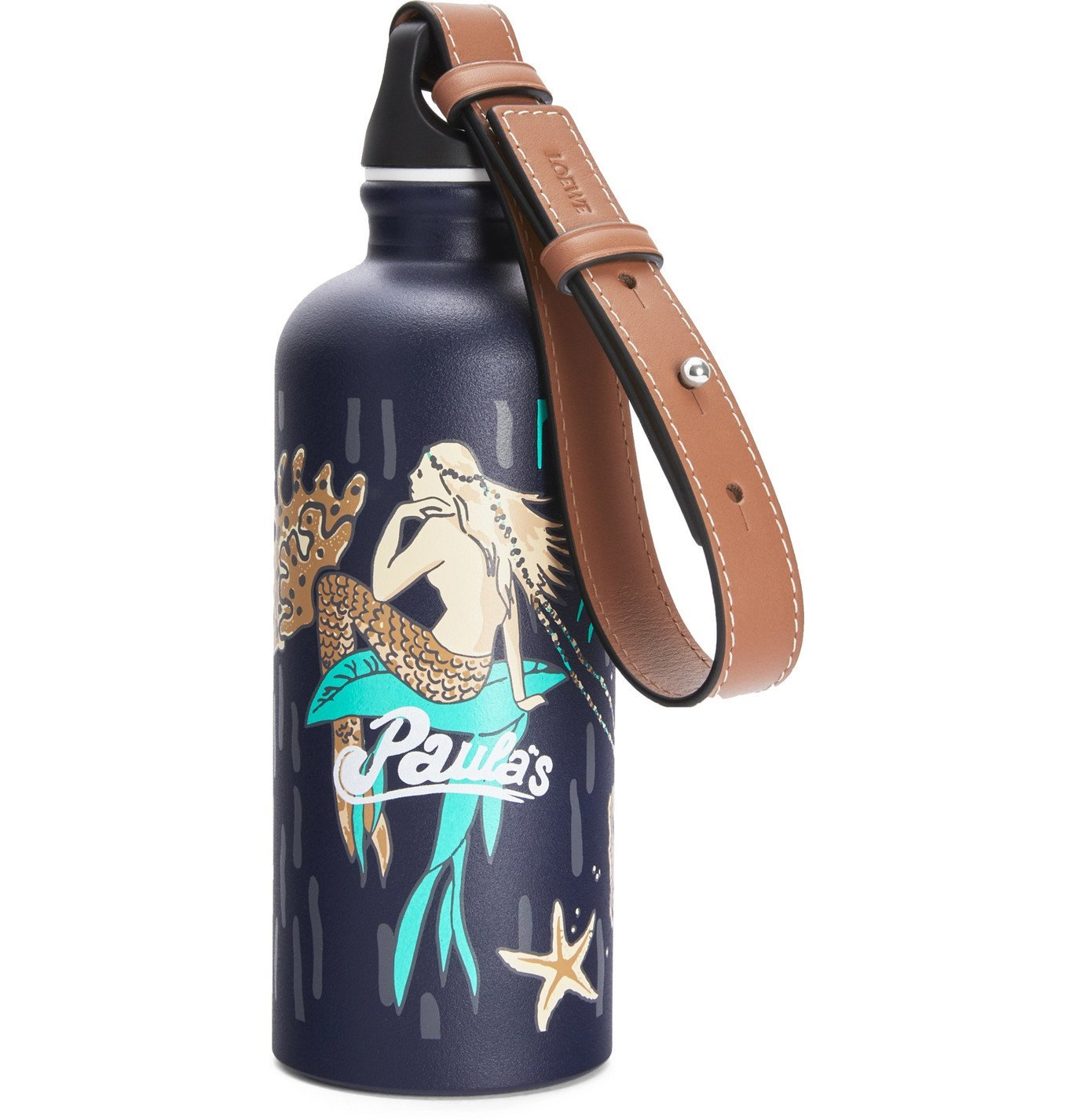 Photo: Loewe - Paula's Ibiza SIGG Printed Aluminium Water Bottle with Leather Strap - Blue