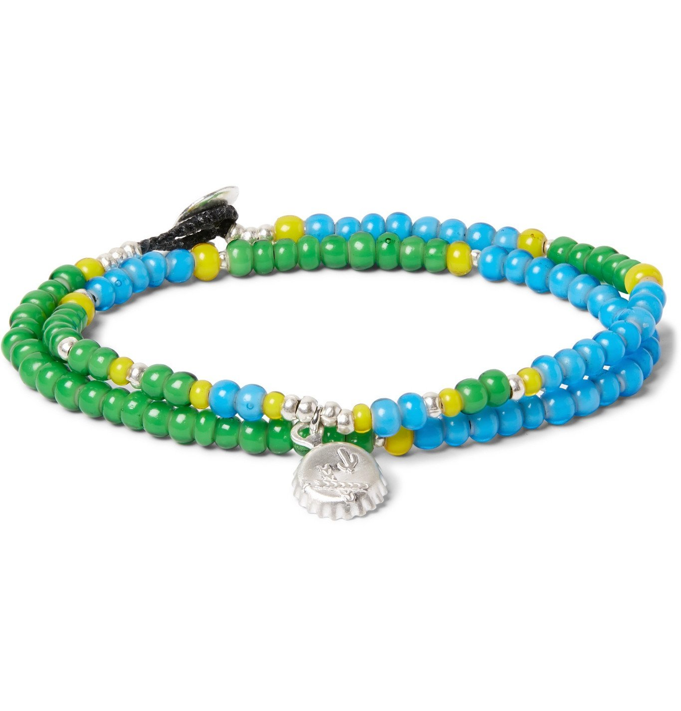 Photo: Mikia - Sterling Silver and Bead Wrap Bracelet - Blue