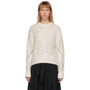 3.1 Phillip Lim White Wool Cable Knit Sweater