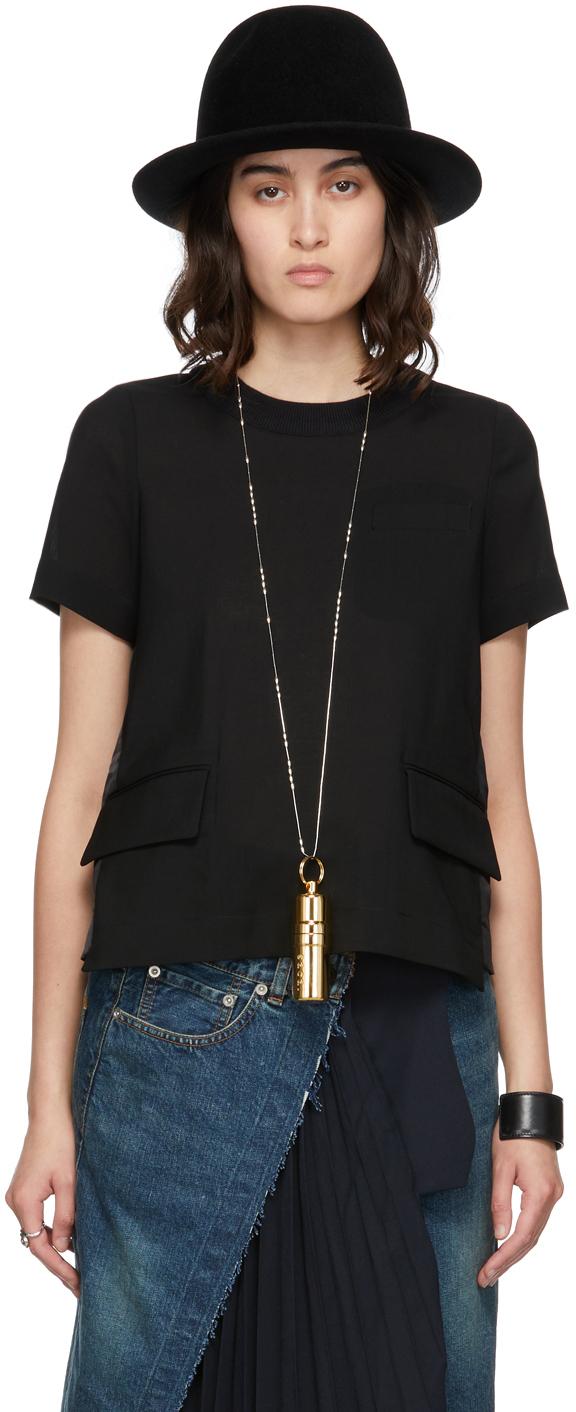 Photo: Sacai Black Suiting Mix T-Shirt